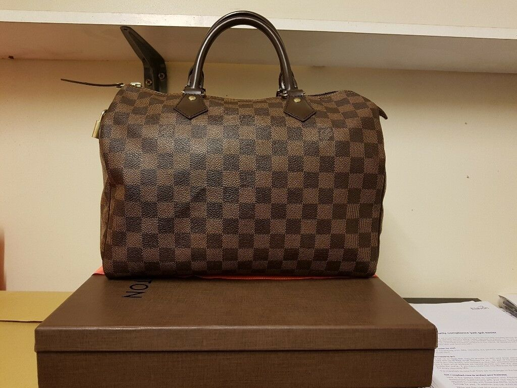 Louis Vuitton Damier Speedy 30 Handbag Lv Bag Comes With Box