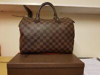 6ba73641472a Louis vuitton    damier speedy 30    handbag lv bag comes with box receipt