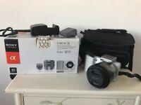 Sony NEX-3 camera with original box and sony camera bag