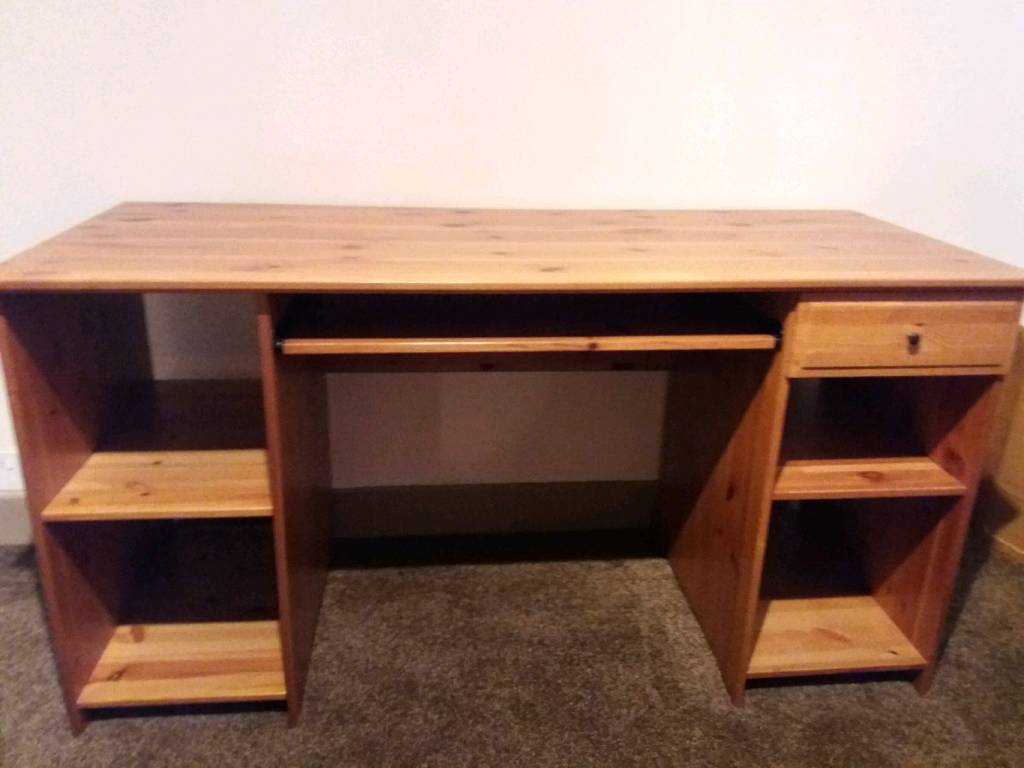 Antique Pine Computer Desk - Antique Pine Computer Desk In Chingford, London Gumtree