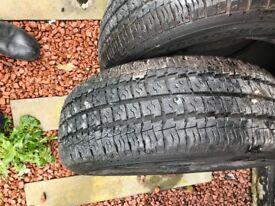 4 tyres 235 x65 x16