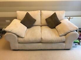 Two Seater Sofa (Cream)