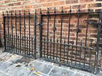 Cast iron garden gates