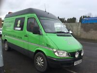 Sprinter recovery van with rdc and work shop in rear 12 months mot in good condition