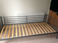 Single day bed from Ikea in excellent condition. Silver metal frame.