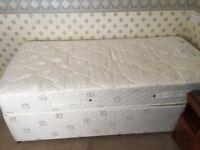 Dorlux Single bed divan and mattress with drawer storage