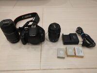 Canon EOS 700D 18-55mm & 55-250mm DSLR Camera