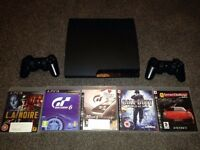 Ps3 slim 150gb plus 6 games