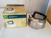Whistling camping kettle