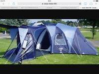 6 man tent and trailer and accessories full set up