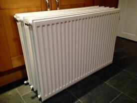 Three good condition white radiators