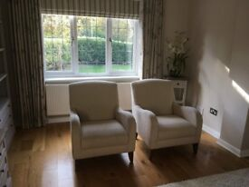 Occasional Chairs - Marks & Spencers - Maiko Armchairs - Natural colour. Good Condition