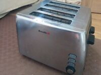 Silver Breville toaster 4 slice
