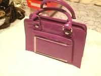 Purple leather handbag by Red or Dead