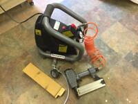 Rockworth air compressor with nail gun and tyre gauge