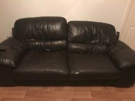 Free leather 3 seater sofa