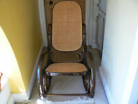 Bentwood and rattan Thonet style rocking chair (1930s style)