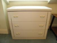 BEDROOM FURNITURE SUITE IDEAL STARTER Tall Wardrobe, 3 Drawer Cupboard, Dressing Table & 2 bedside