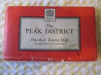 vintage Ordnance Survey map - Peak District One Inch Tourist Map