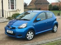 Toyota Aygo 1.0 Automatic Semi-Auto 2010 Blue 25k Low Miles FSH HPI Clear