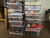 Lots of DVDs for sale