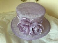 Wedding hat lilac colour from next