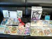 Nintendo Wii Family Bundle with UDraw Game Tablet 20 Games and Accessories