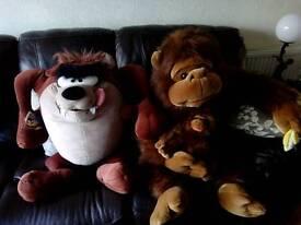 2 giant soft cuddly toys