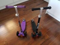 Maxi Micro Scooter - 1 Purple - 1 Black. Excellent Used condition