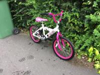 Girls bmx bike 18""