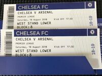 2 seats together CHELSEA --ARSENAL