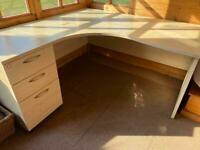 Desks, chairs, book shelf, cabinets