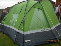 HI GEAR VOYAGER ELITE 6 MAN TENT & FOOTPRINT EXCELLENT CONDITION