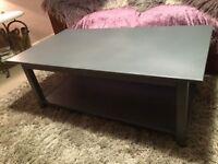 Coffee table slate grey refurbished wood