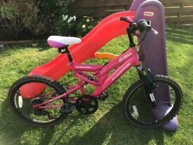 "Girls muddyfox 18"" bike (age 6-10) in excellent condition"