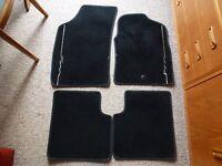 FIAT 500 BLACK CAR MATS