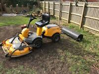 Stiga Ride on Mower with Roller, leveller and Scariffier