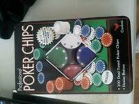 Professional poker chips. New