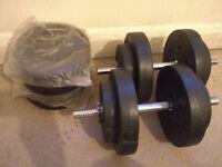 Steel Dumbells (50kg) for sale