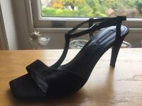 JIL SANDER BLACK EVENING SHOE 5/38