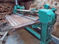 Swan neck belt sander with dust extraction three phase