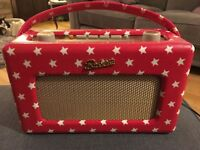 Limited edition Cath Kidston DAB red with white star radio