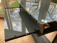 Computer Desk (John Lewis) - Metal & glass