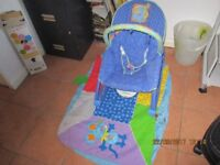 Baby Bouncy Vibrating Chair and Playmat