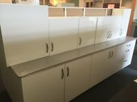 Woodbury White Gloss Fully Assembled Complete Kitchen - 10 Units & 1 Worktop