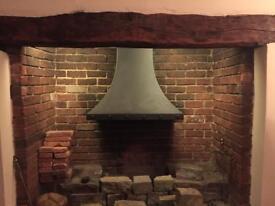 Black Inglenook Fireplace Canopy Hood
