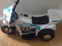 Police toy mortorbike