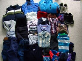 Bundle of Boys clothes, jackets, trainers and accessories - suit age 5-7 years