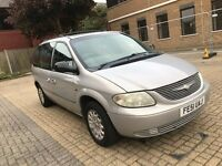 2001 CHRYSLER VOYAGER 2.5 DIESEL MANUAL MPV 7 SEATER FAMILY CAR 12 MONTHS MOT TOWBAR N GALAXY SHARAN