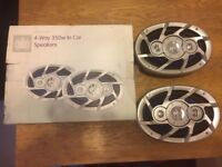 ministry of sound 4 way 350w in car speakers NEW